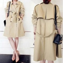 Fashion Street - Double Breasted Trench Coat