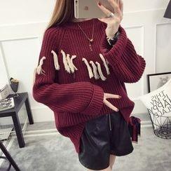 Waypoints - Tasseled Chunky Sweater