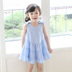Cuckoo - Kids Bow Detail Sleeveless Dress