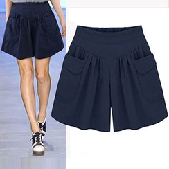 Fashion Street - Band Waist Pocketed Skort