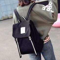 Youme - Canvas Flap Backpack