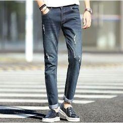 SOLER - Distressed Skinny Jeans