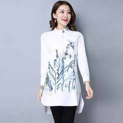 One2One - Embroidered Long Shirt