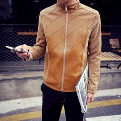 Alvicio - Faux Leather Zip Jacket