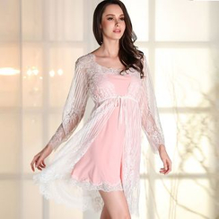 Sophine - Set: Lace Night Dress + Robe
