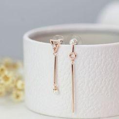 HM - 不对称珍珠几何耳环