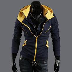 Bay Go Mall - Color-Block Hood Jacket