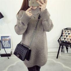 Emeline - 纯色长款毛衣