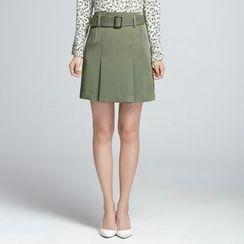 Sentubila - Plain A-line Skirt