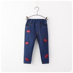 Rakkaus - Lip Print Jeans