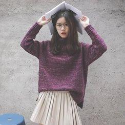 Polaris - Plain Mock Neck Sweater