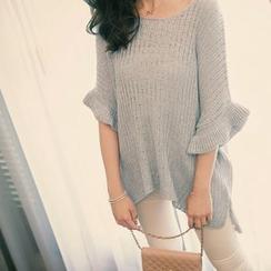 Tokyo Fashion - Flared Elbow-Sleeve Sweater