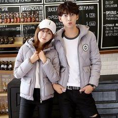 Azure - Couple Matching Hooded Padded Jacket
