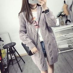 Hibisco - Cable Knit Chunky Long Cardigan