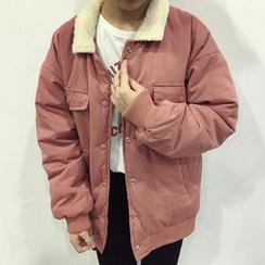 Moon City - Fleece Collar Padded Jacket