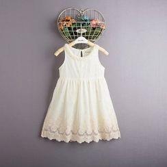 Kidora - 儿童蕾丝拼接无袖连衣裙