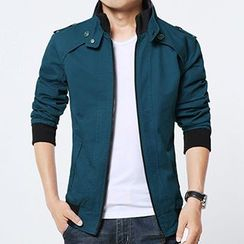 RUYA - Fleece-Lined Stand-Collar Zip Jacket