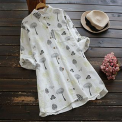 YOYO - Long-Sleeve Printed Long Shirt