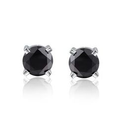 MBLife.com - 925 Sterling Silver Black CZ Stud Earrings (5mm) Women Jewelry Gift
