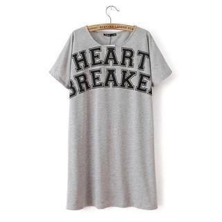JVL - Short-Sleeve Printed T-Shirt Dress