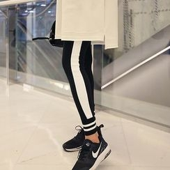Seoul Fashion - Contrasted Trim Leggings