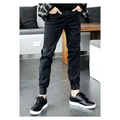 HOTBOOM - Washed Slim-Fit Jeans