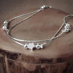 maxine - 925 Sterling Silver Star Bracelet