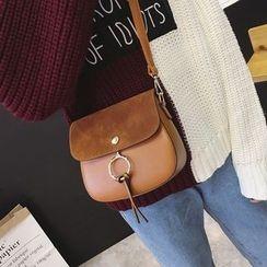 Rosanna Bags - Faux Suede Panel Crossbody Bag