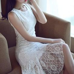 anzoveve - Sleeveless Lace Dress