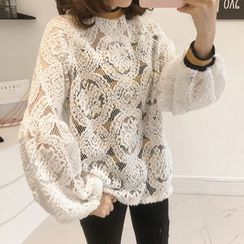 Little V - Lace Panel Sweatshirt