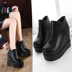 Anran - Hidden Wedge Ankle Boots