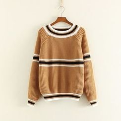 Mushi - Colour Block Knit Top