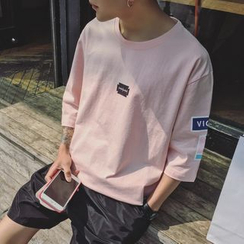 Soulcity - 3/4-Sleeve Print T-Shirt