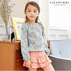 LILIPURRI - Girls Floral Print Top