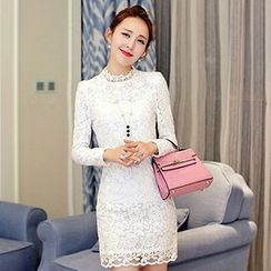 Lovebirds - Long-Sleeve Lace Dress
