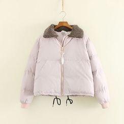 三木社 - 抓毛領夾層夾克