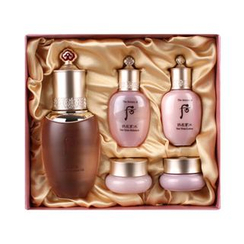 The History of Whoo 后 - Gonginhyang Soo Camellia Moisturizing Oil Special Set: Oil + Balancer + Lotion + Cream + Jin Cream