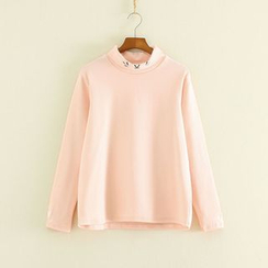 Mushi - Cat Turtleneck Long-Sleeve T-shirt