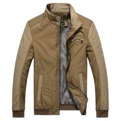 RUYA - Stand-Collar Paneled Zip Jacket