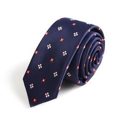 Xin Club - Patterned Slim Neck Tie (5cm)