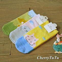 櫻桃兔兔 - 動物印花襪