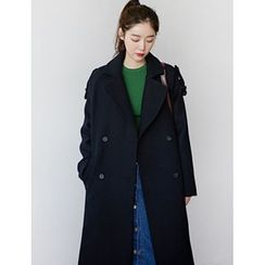 FROMBEGINNING - Wool Blend Double-Breasted Coat
