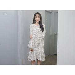 Envy Look - Ruffle-Hem Floral Print Dress