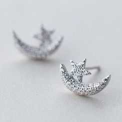 A'ROCH - 925 Sterling Silver Rhinestone Earrings