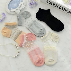 QIANLEE - Lace-Panel Socks