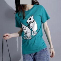 Sonne - Dog-Print T-Shirt