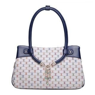 MBaoBao - Faux-Leather Jeweled Print Satchel