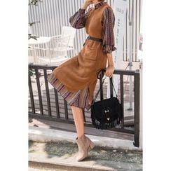 migunstyle - Sleeveless Open-Knit Dress