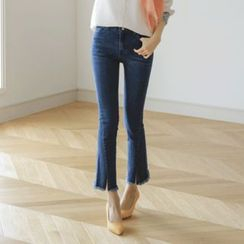 JUSTONE - Slit-Hem Straight-Cut Jeans