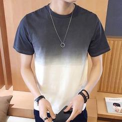 Jimboy - 渐变色圆领T恤